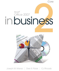 Cover of the book Microsoft office 2007 in business core