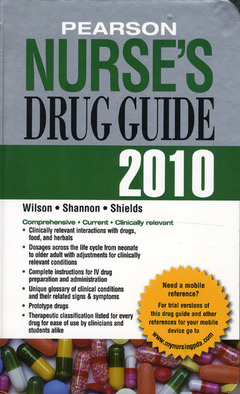 Cover of the book Pearson nurse's drug guide 2010