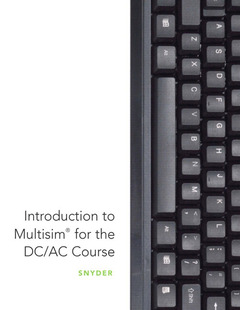 Cover of the book Introduction to multisim for the dc/ac course (1st ed )