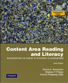 Cover of the book Content area reading and literacy