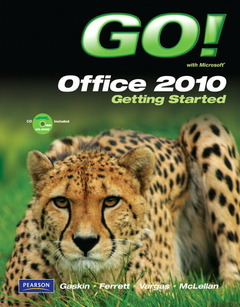 Cover of the book Go! with office 2010 getting started (1st ed )