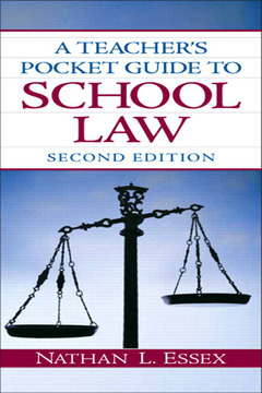 Cover of the book A teacher's pocket guide to school law (2nd ed )