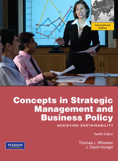 Cover of the book Concepts in strategic management & business policy (12nd ed )