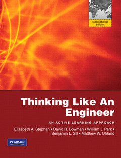 Cover of the book Thinking like an engineer (1st ed )