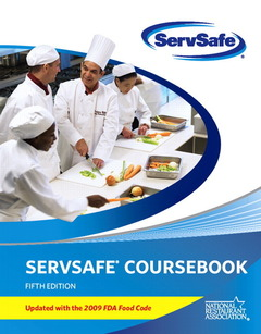 Cover of the book Servsafe coursebook with online exam voucher 5th edition, updated with 2009 fda food code (5th ed )