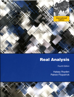 Cover of the book Real analysis (4th Ed.) (International Edition)