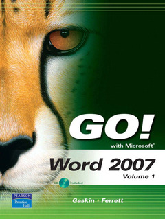 Cover of the book Go! with microsoft word 2007, volume 1