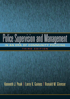 Cover of the book Police supervision and management (3rd ed )
