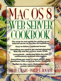 Cover of the book Mac OS 8 web server cookbook