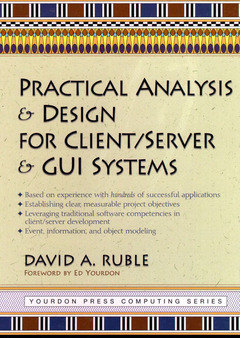 Cover of the book Practical analysis & design for client/ server & GUI systems