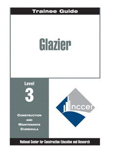 Cover of the book Glazier level three, perfect bound, trainee guide