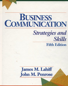 Cover of the book Business communication : strategies and skills, 5th ed 1996