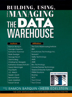 Cover of the book Building, using & managing the data warehouse