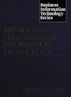 Cover of the book Management strategies for information technology (paper)