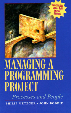 Cover of the book Managing programming project : people and processes, 3rd ed 1996