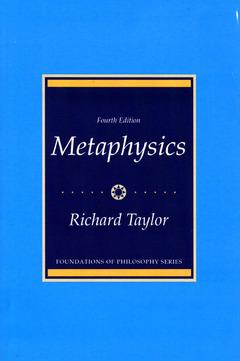 Couverture de l'ouvrage metaphysics