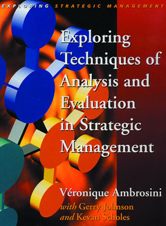 Cover of the book Exploring techniques of analysis and evaluation in strategic management (paper)
