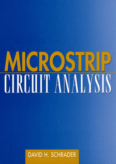 Cover of the book Microstrip circuit analysis