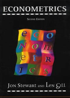 Cover of the book Econometrics, 2nd ed 1998