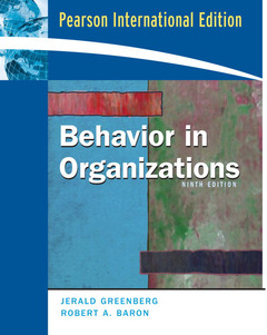 Cover of the book Behavior in organizations International Edition