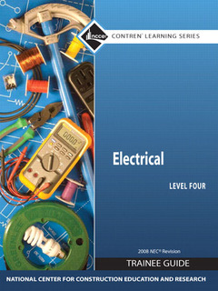 Cover of the book Electrical 4 trainee guide, 2008 nec, paperback (1st ed )