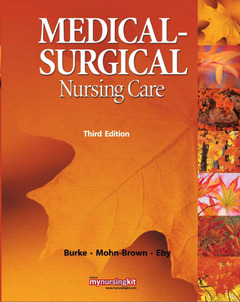 Cover of the book Medical surgical nursing care (3rd ed )