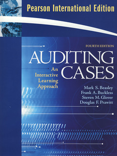 Cover of the book Auditing & cases, an interactive learning approach, (4th Ed. PIE)