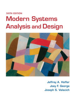 Cover of the book Modern systems analysis and design (6th ed )