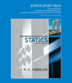 Cover of the book Statics study pack for engineering mechanics (12nd ed )