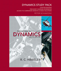 Cover of the book Dynamics study pack for engineering mechanics (12nd ed )