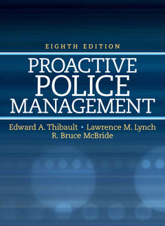 Cover of the book Proactive police management (8th ed )