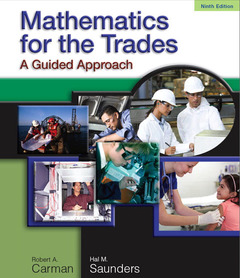 Cover of the book Mathematics for the trades (9th ed )