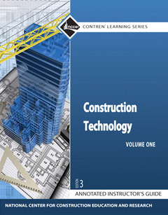 Cover of the book Construction technology annotated instructor's guide, paperback (3rd ed )