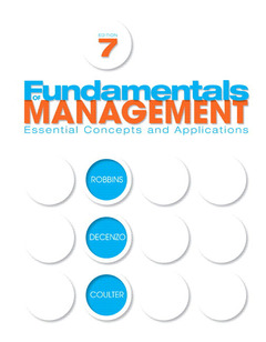 Cover of the book Fundamentals of management (7th ed )