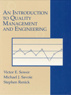 Cover of the book Introduction to quality management and engineering