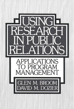 Cover of the book using research public relation