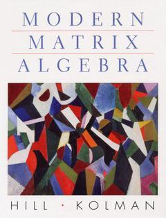 Cover of the book Modern matrix algebra