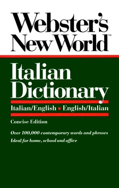 Cover of the book Webster's new world Italian dictionary italian/english english/italian