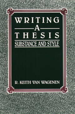 Cover of the book writing a thesis