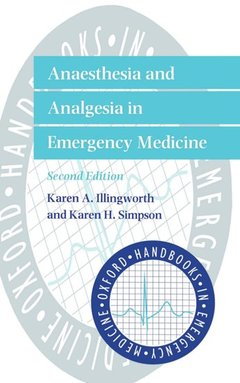 Cover of the book Anaesthesia and analgesia in emergency medicine 2nd Ed. 1998 hardback