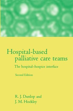 Cover of the book Hospital based palliative care: the hospital/hospices interface 2nd ed.
