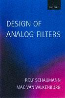 Couverture de l'ouvrage Design of Analog Filters