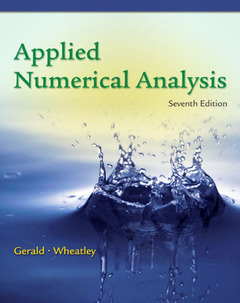 Couverture de l'ouvrage Numerical analysis (7th ed )