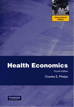 Couverture de l'ouvrage Health economics