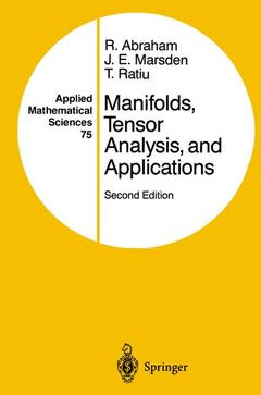 Couverture de l'ouvrage Manifolds, tensor analysis and applications, 2nd Ed. (POD)