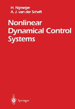 Couverture de l'ouvrage Nonlinear dynamical control systems (1st ed 1990 corr 3rd printing)