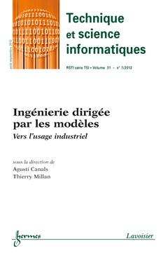 Couverture de l'ouvrage Ingénierie dirigée par les modèles (Technique et science informatiques RSTI série TSI Vol. 31 N° 7 / Août-Septembre 201)