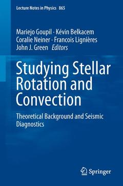 Couverture de l'ouvrage Studying Stellar Rotation and Convection