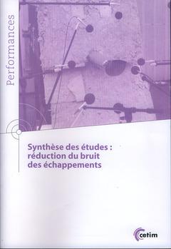 Couverture de l'ouvrage Synthèse des études
