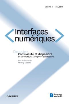 Couverture de l'ouvrage Interfaces numériques Volume 1 N° 3/Septembre-Décembre 2012